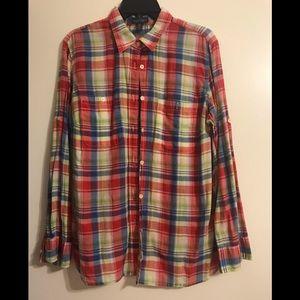Lauren jeans plaid button down shirt